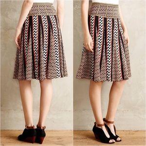 Anthropologie Ranna Gill Chevron Striped Skirt